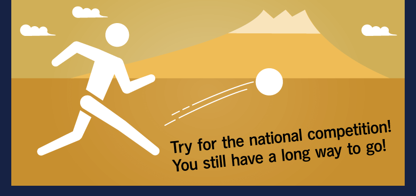 Try for the national competition!  You still have a long way to go!